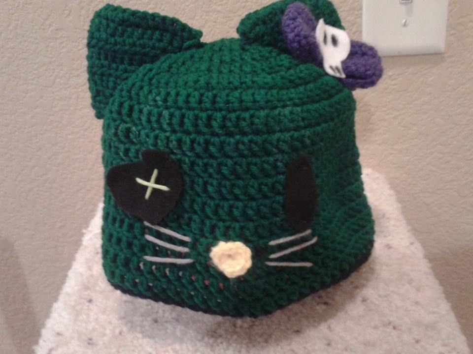 Hello Kitty Zombie crochet hat Crochet Pinterest