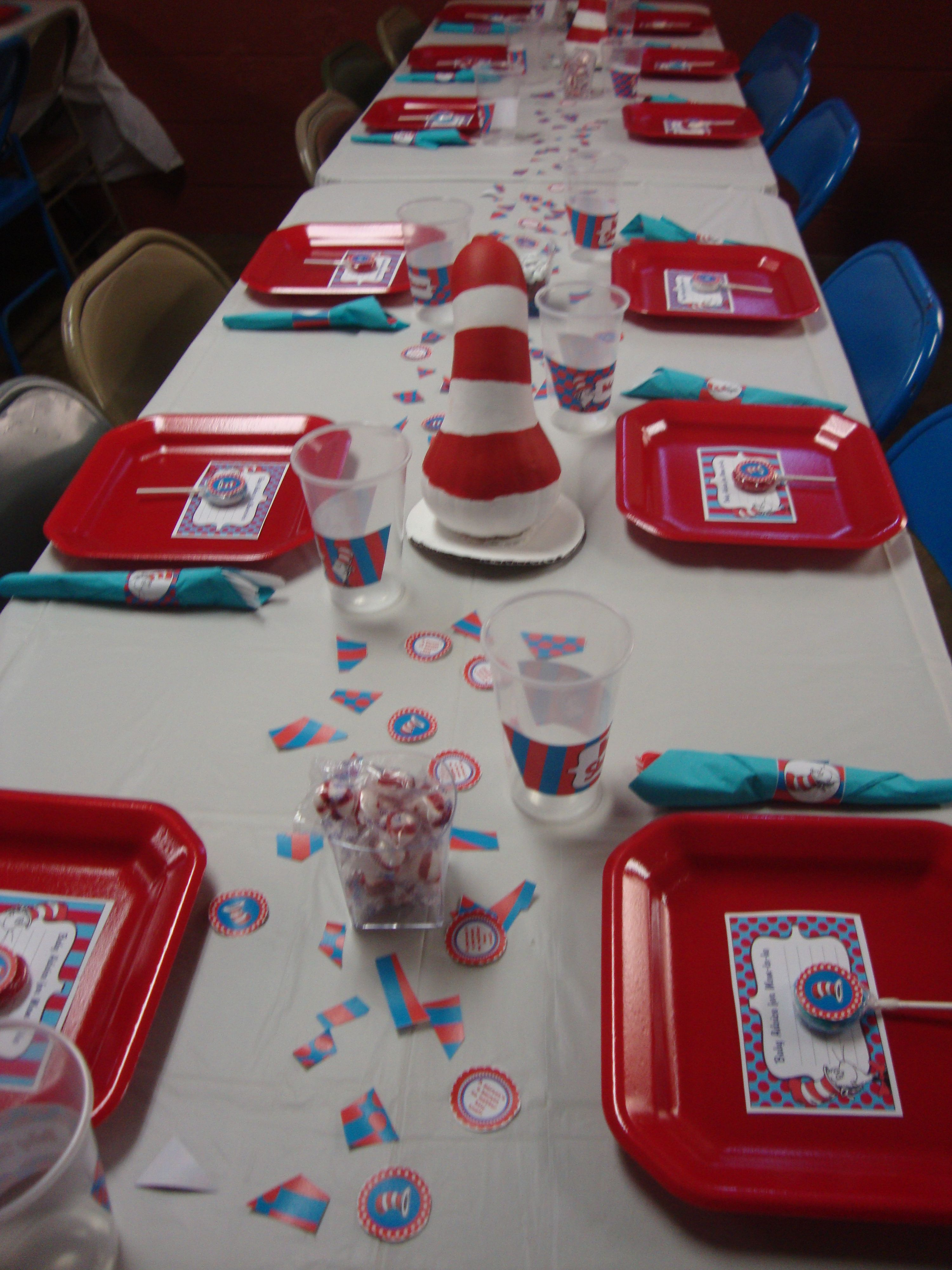 cat in the hat baby shower cakes and parties pinterest