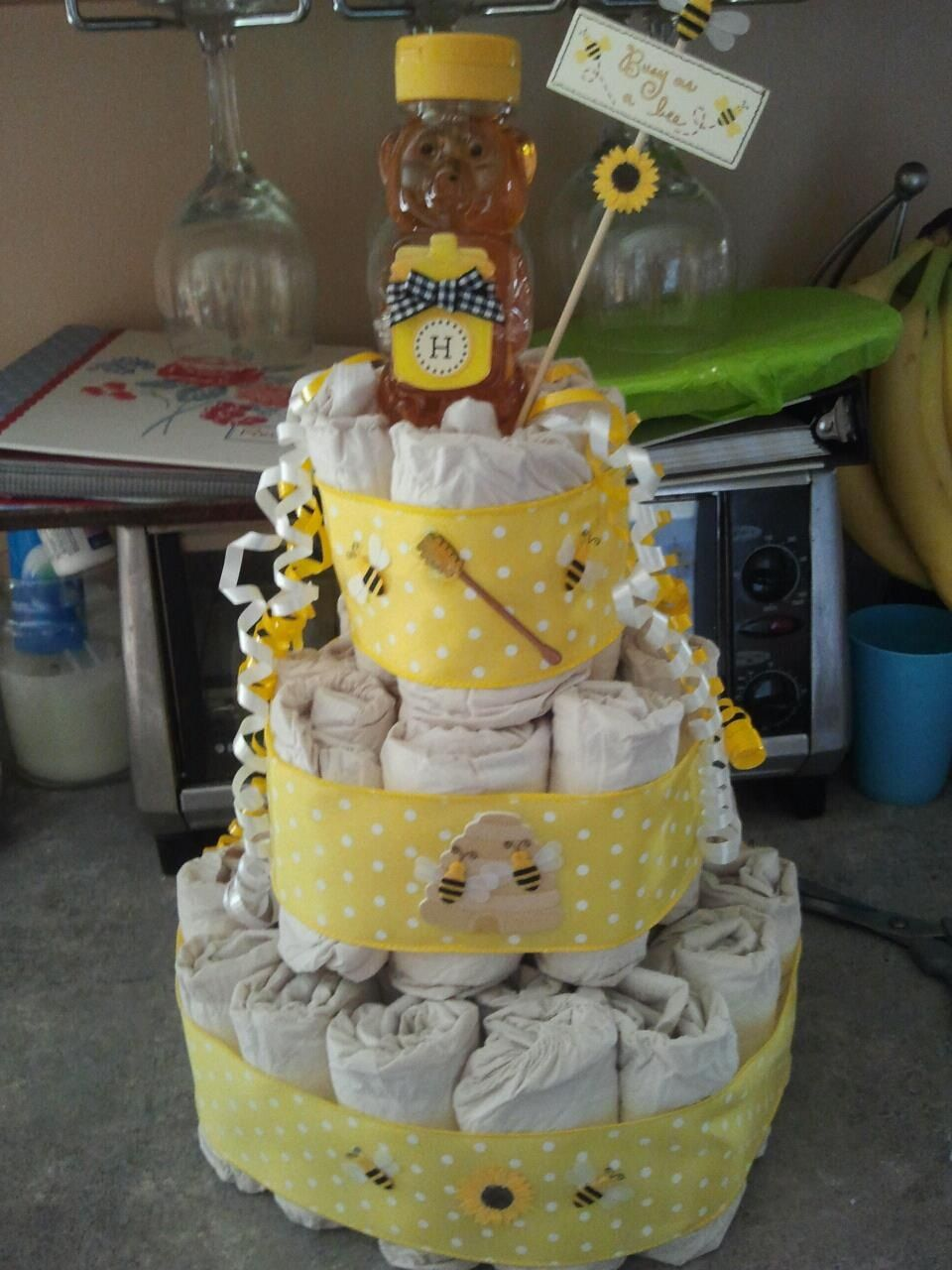 bumble bee baby shower diaper cake codi is having a baby pinte
