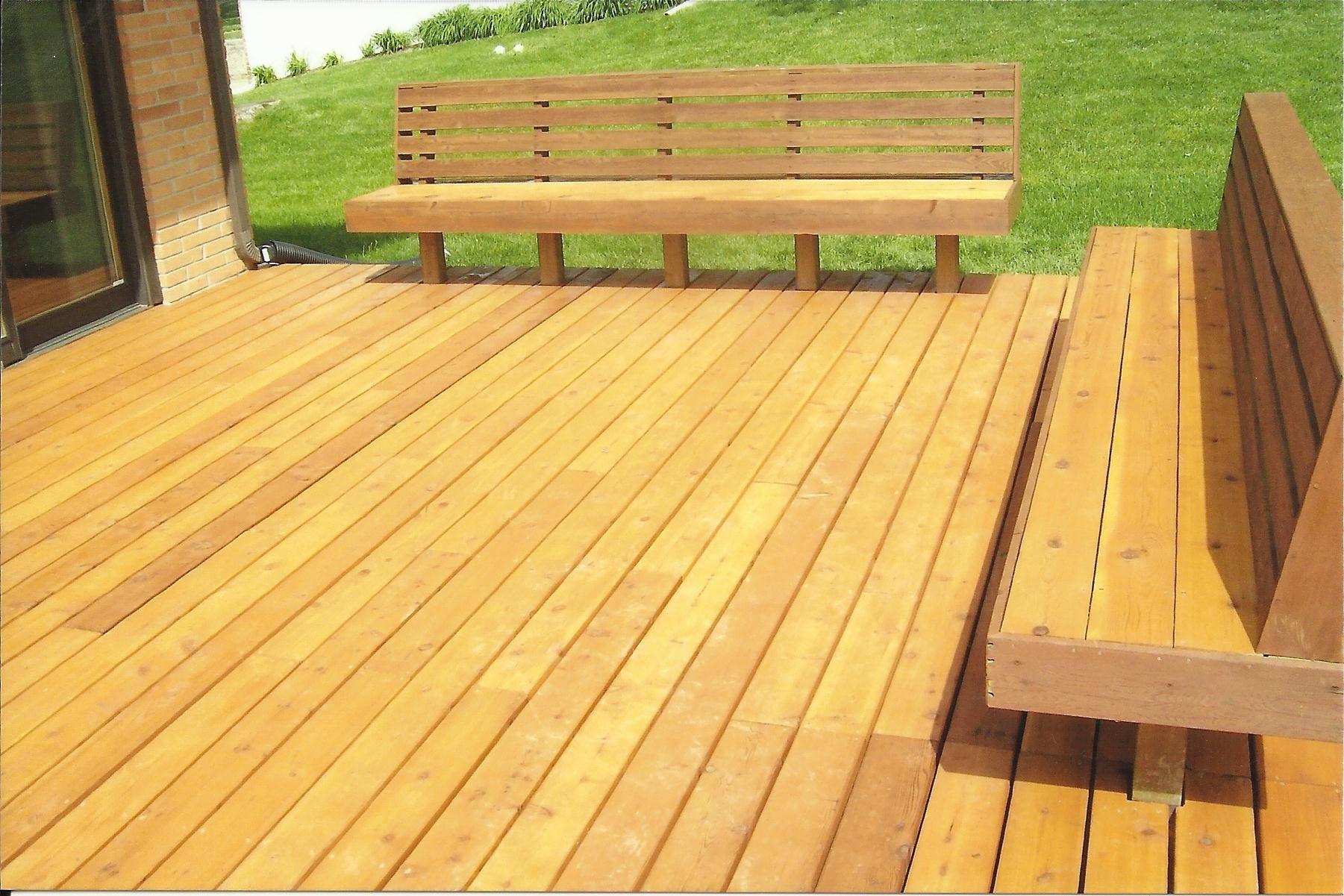 Cedar Wood Deck Benches Back Yard Pinterest