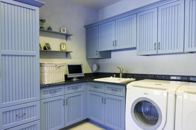 Beautiful Blue Laundry Room Laundry Pinterest