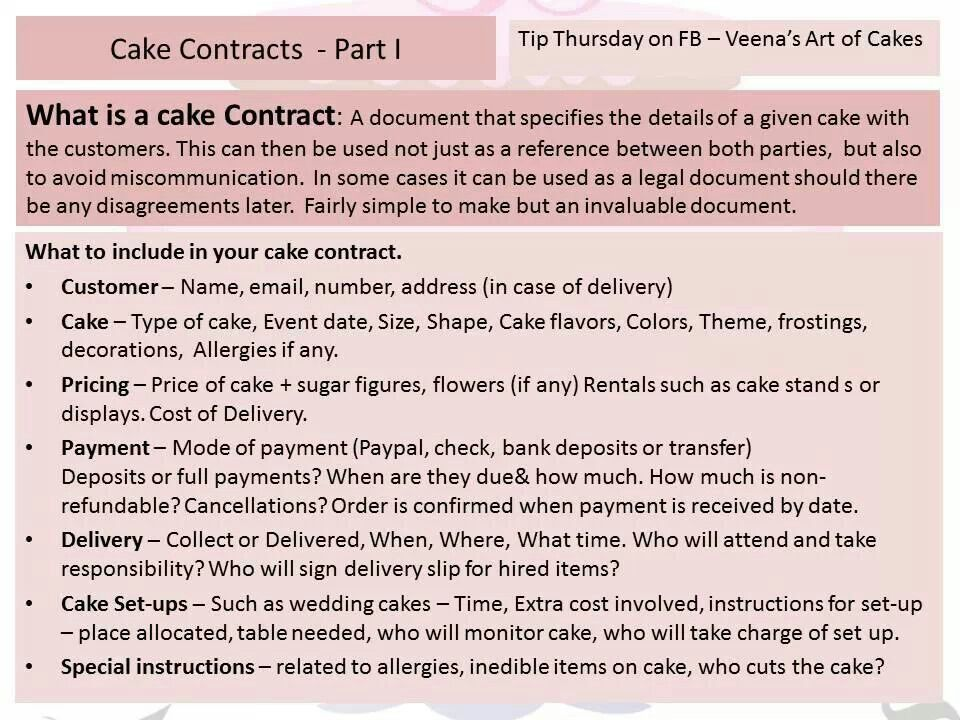 cake contract templates