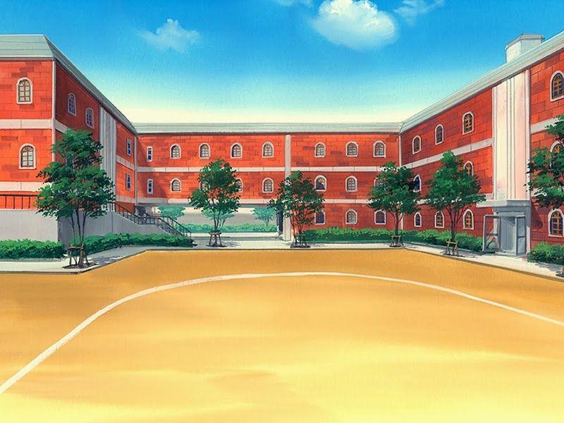 Anime school background