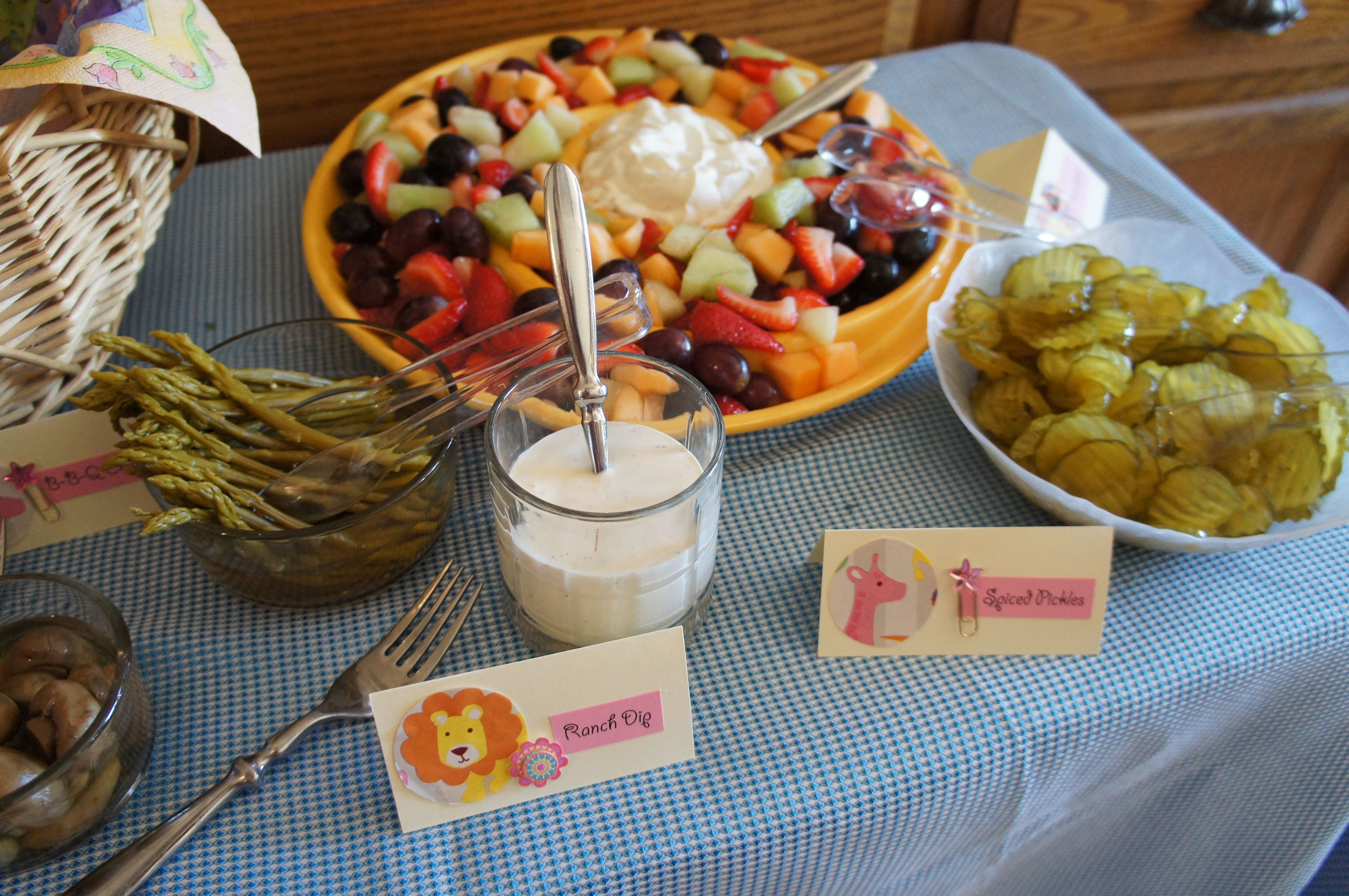 Meals For Baby Showers ~ Baby shower food ideas safari theme