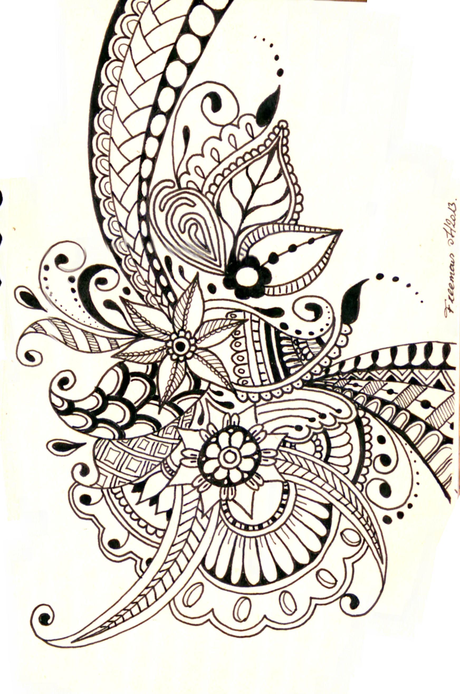 Zentangle Flower Tattoo zentangle | Drawing | ...