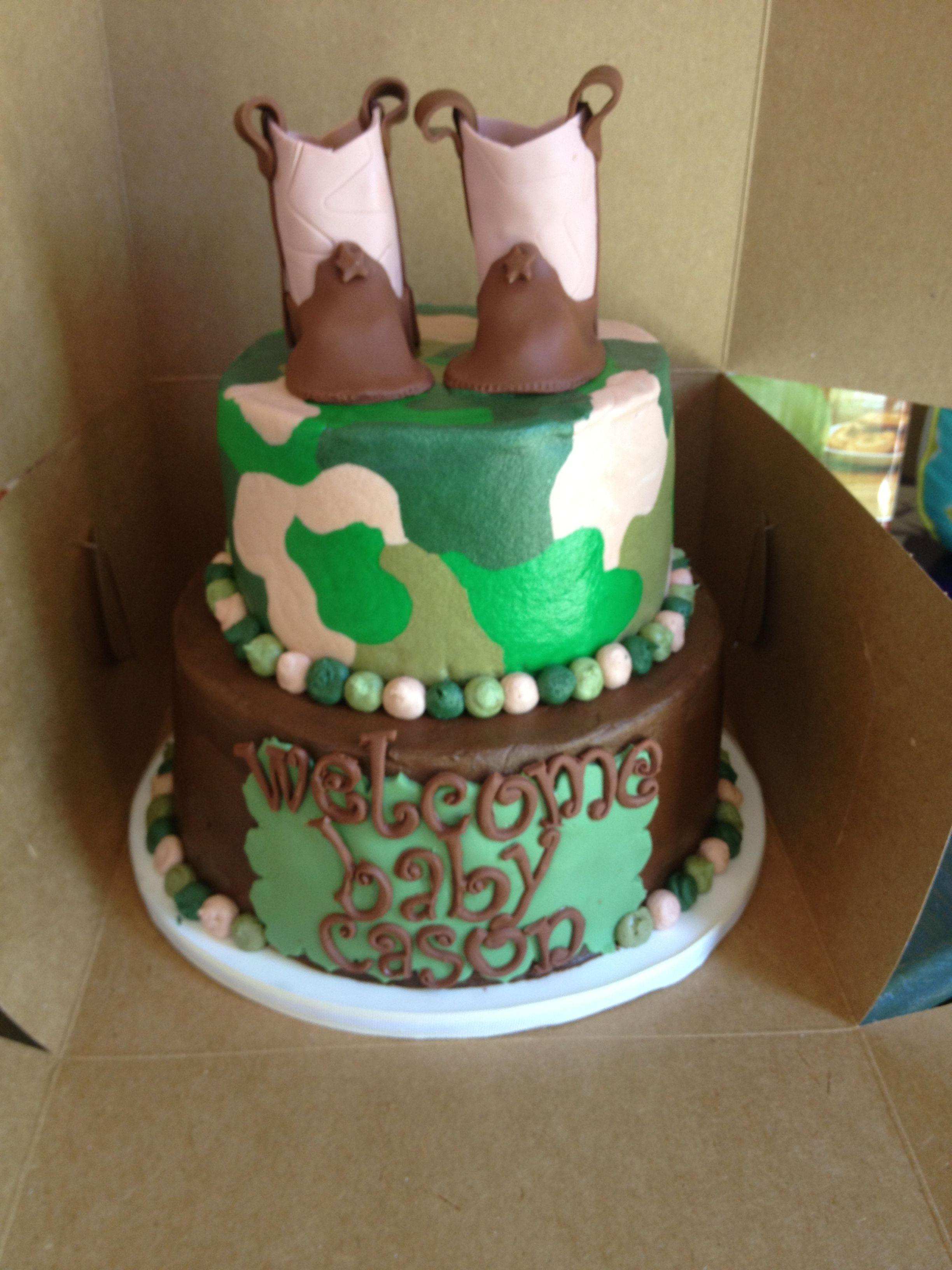 camo baby shower cake baby shower pinterest