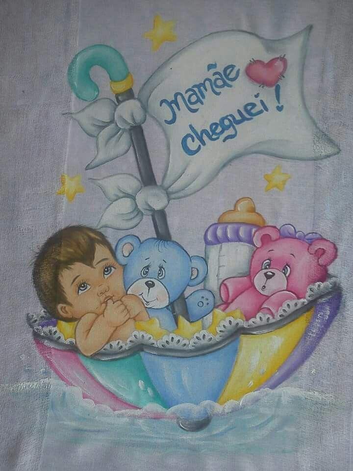 Pin <b>de</b> Elayne Neres em enxoval bebe pinturas | Pinterest ...