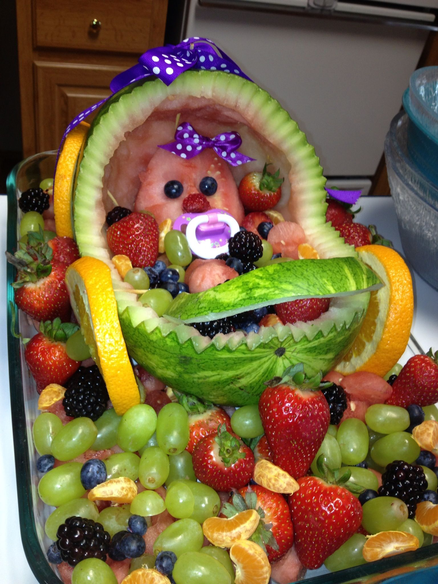 baby shower fruit baby cradle food art pinterest