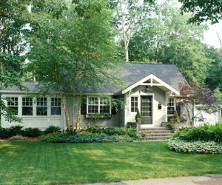Ranch home facade makeover curb appeal ideas pinterest for Ranch house curb appeal