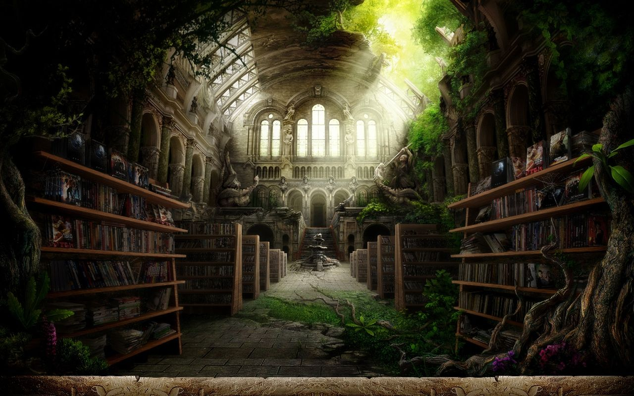 Fantasy library | Storyplaces: Interior | Pinterest