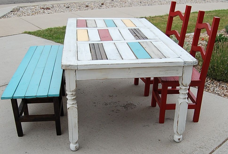 Upcycled dining table and chairs apartment ideas pinterest for Upcycled dining table
