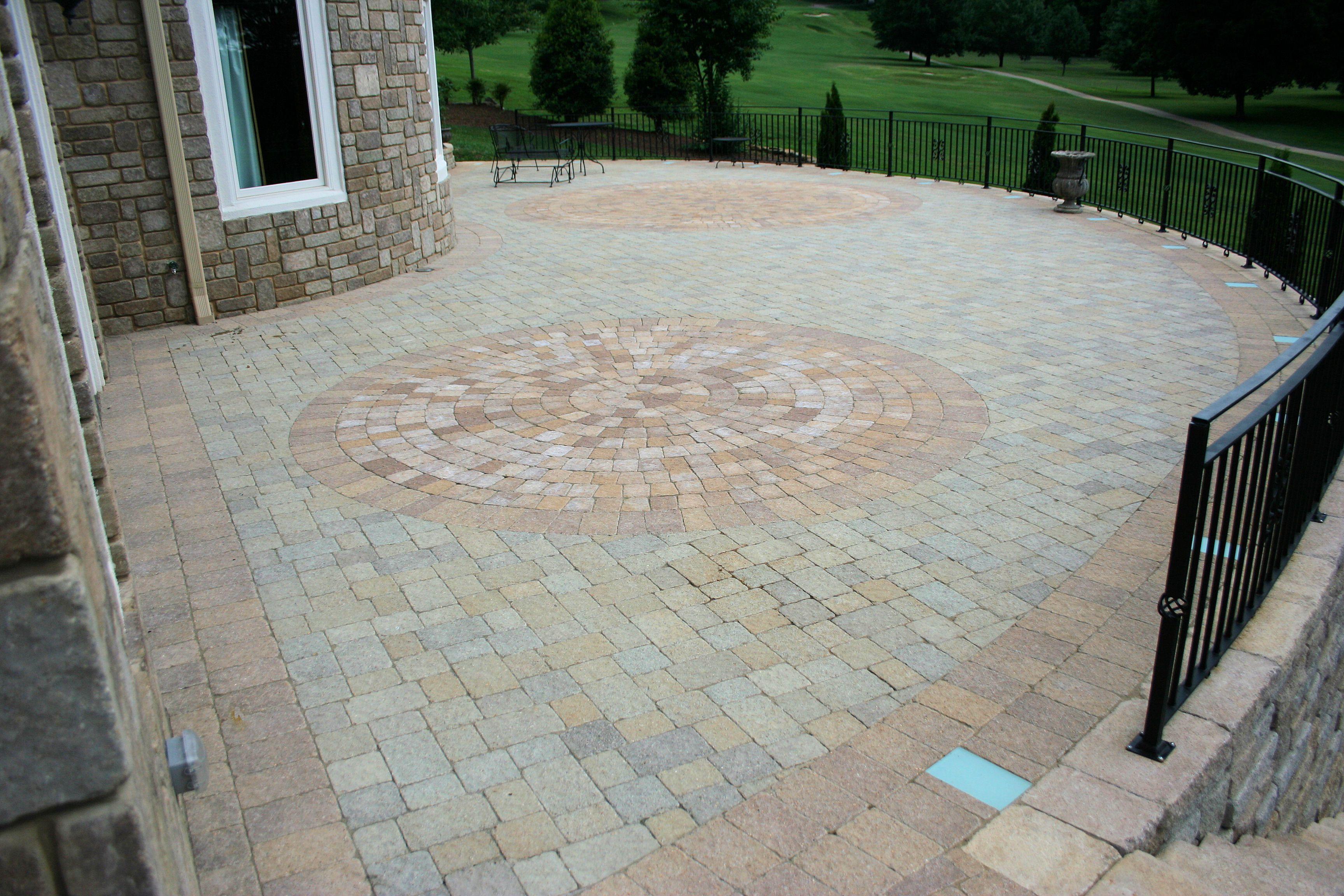 Paver patio patio ideas pinterest for Pinterest patio pavers