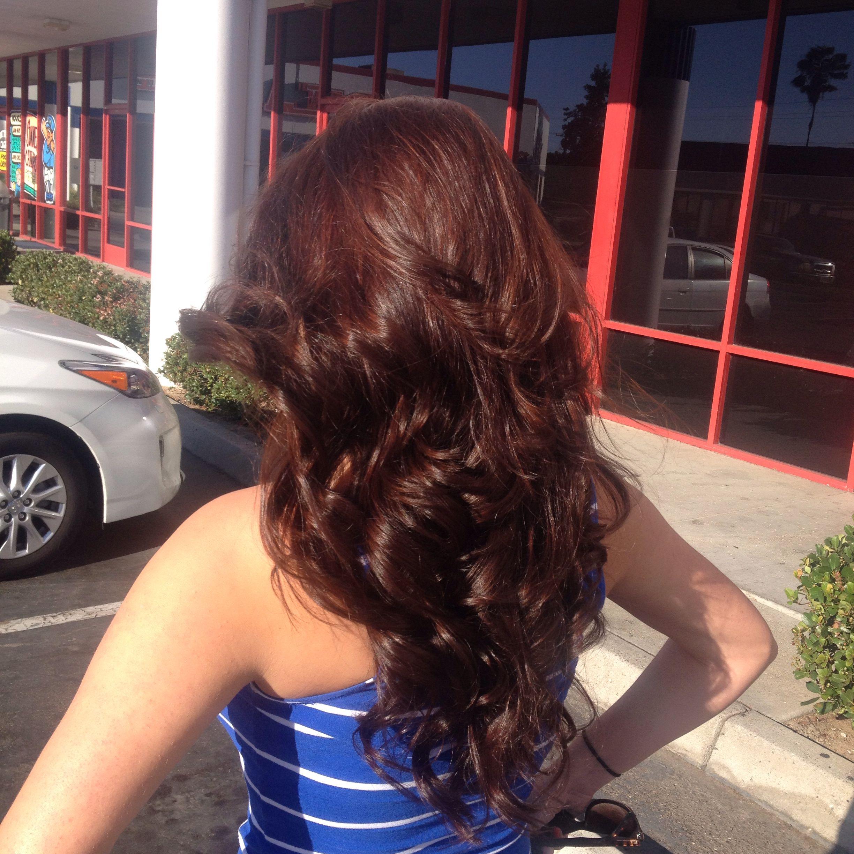 Similar Design Cherry Cola Plum Hair Color | Dark Brown Hairs