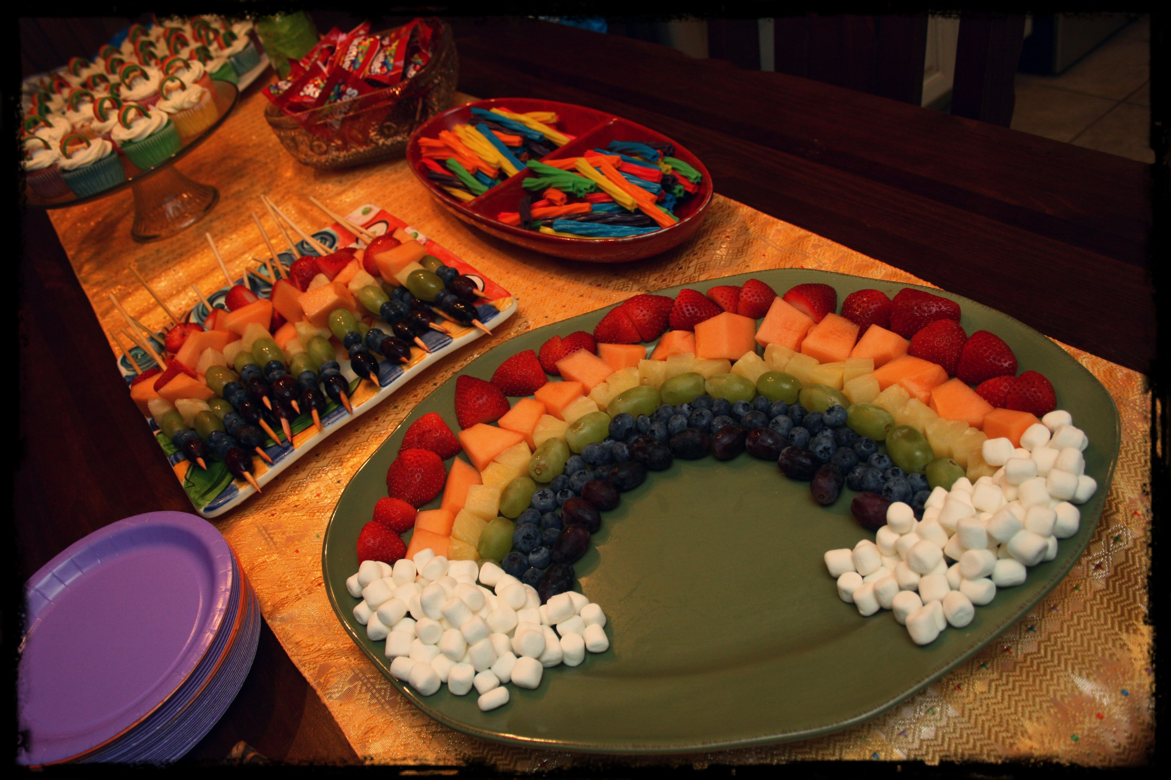 Rainbow birthday food ideas art party pinterest
