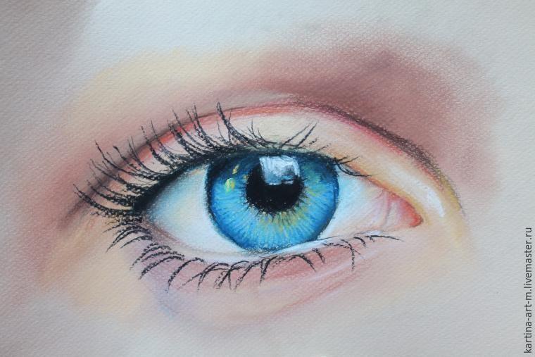 Пастель рисовать глаз