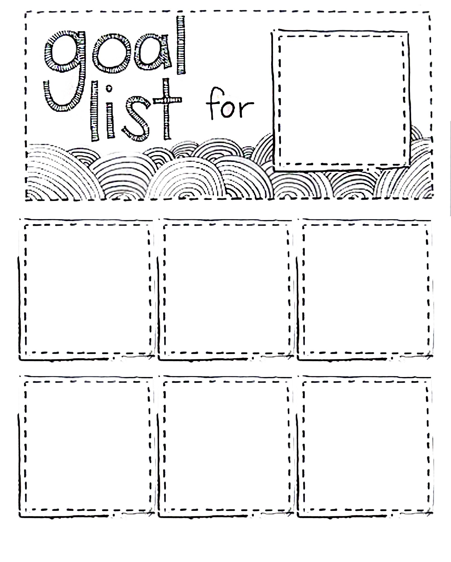 printable goal list using post