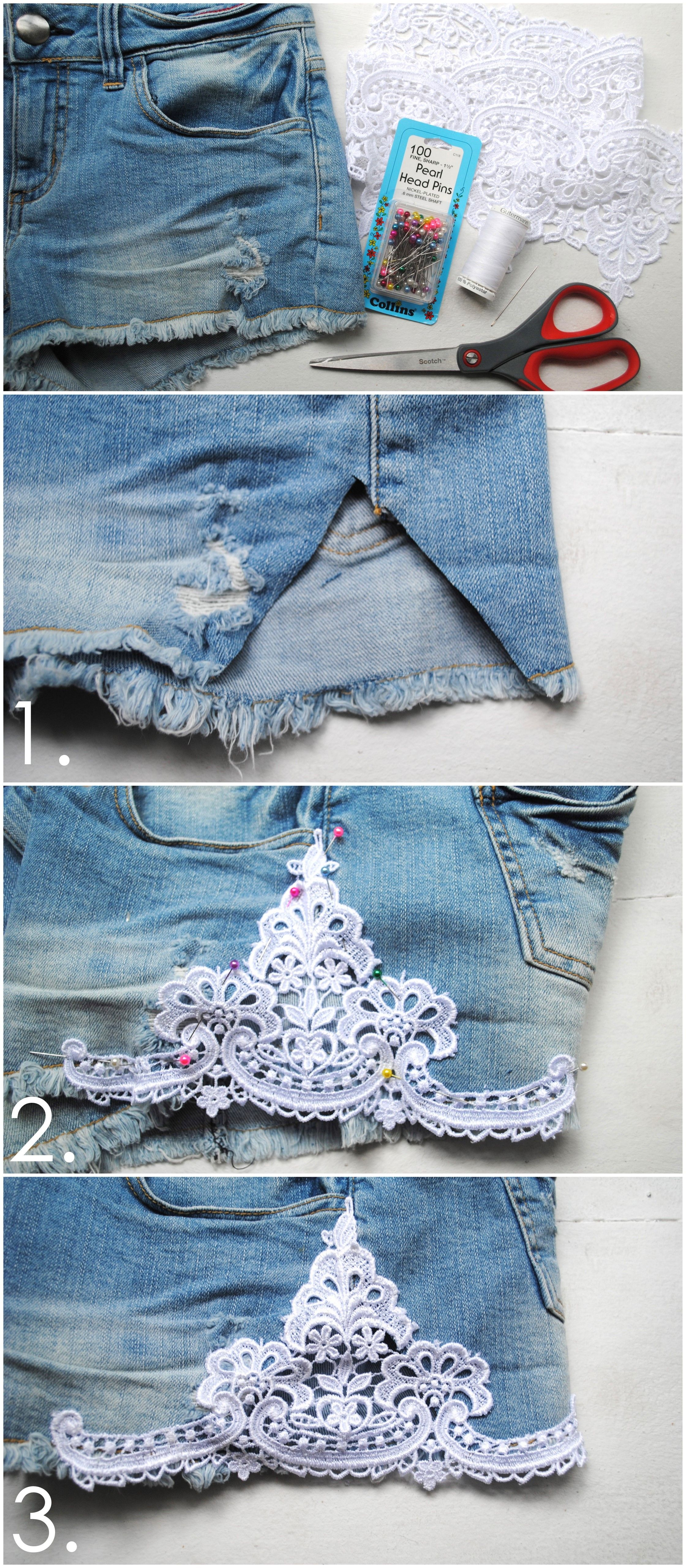 50 Идей, как из старых женских джинс сделать модные шорты