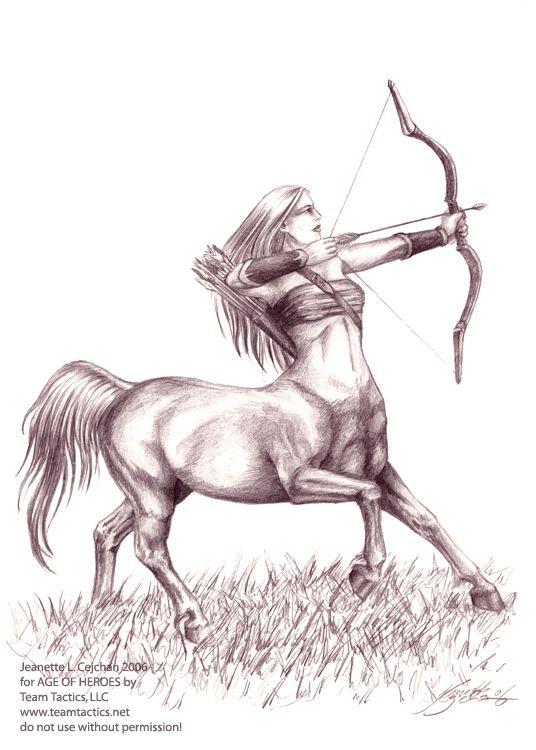 Female Centaur Archer Elfwoodcom  Next Tat Pinterest