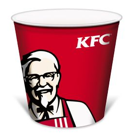Empty bucket of chicken