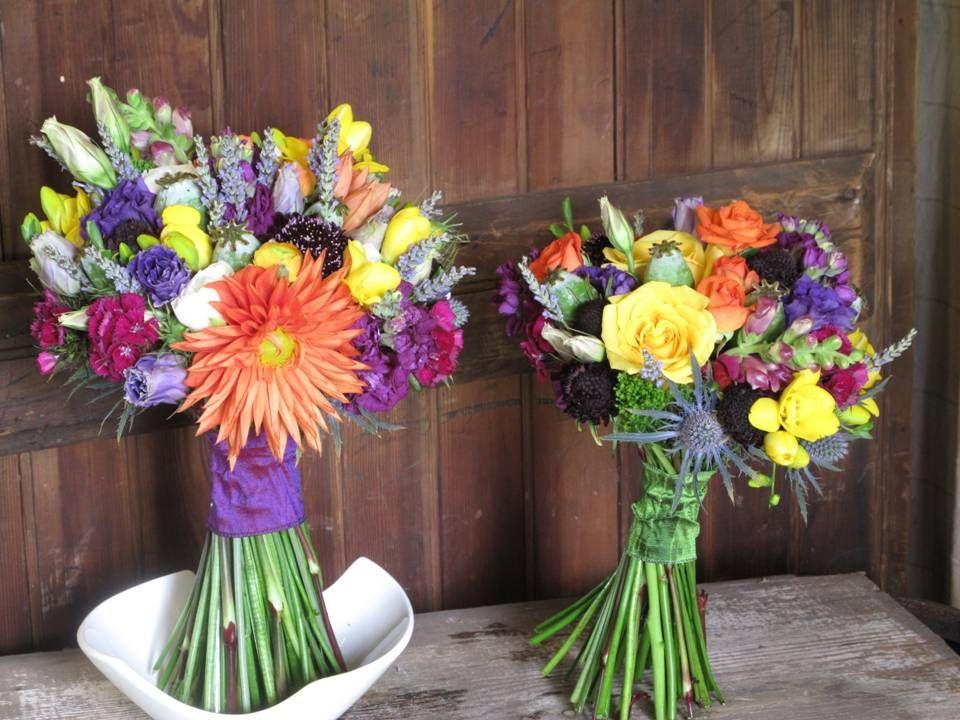 Wildflower Bouquets Outdoor Wedding Pinterest