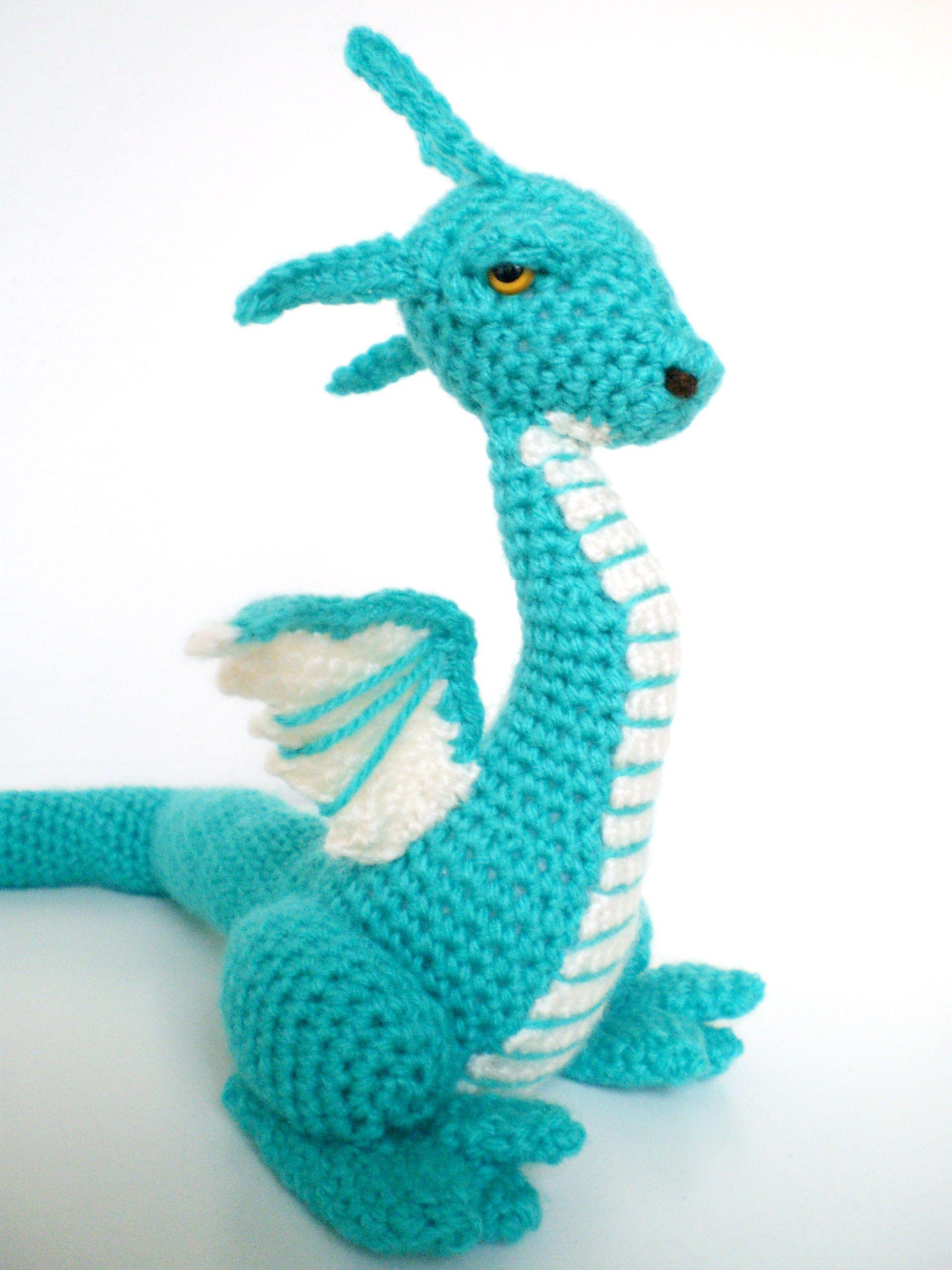 My first crochet dragon! AMIGURUMI Pinterest