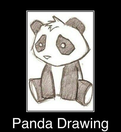 DrawingDrawing Of A Cute Panda