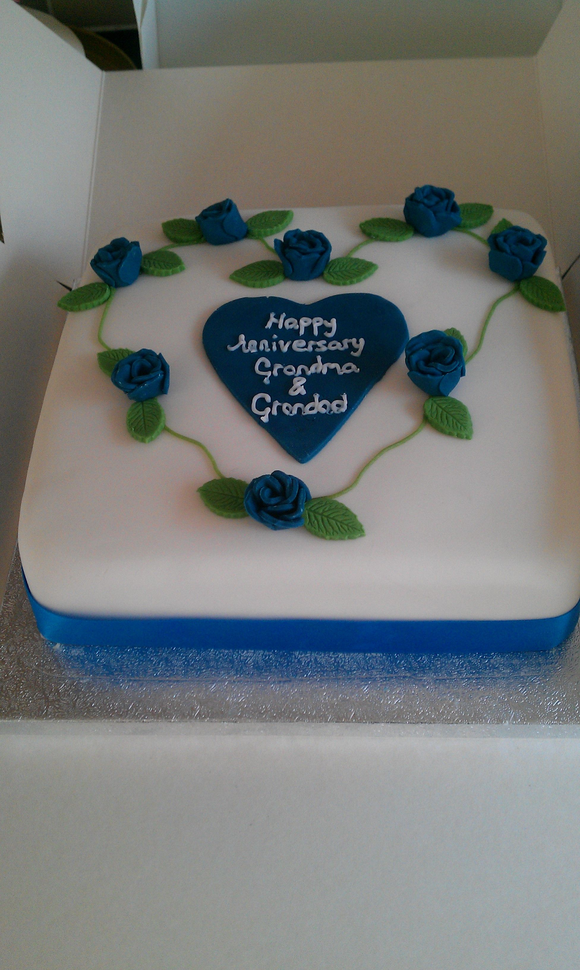 Cake Ideas For 45th Wedding Anniversary : Pin 45th Sapphire Wedding Anniversary Card Paper Q Folksy ...