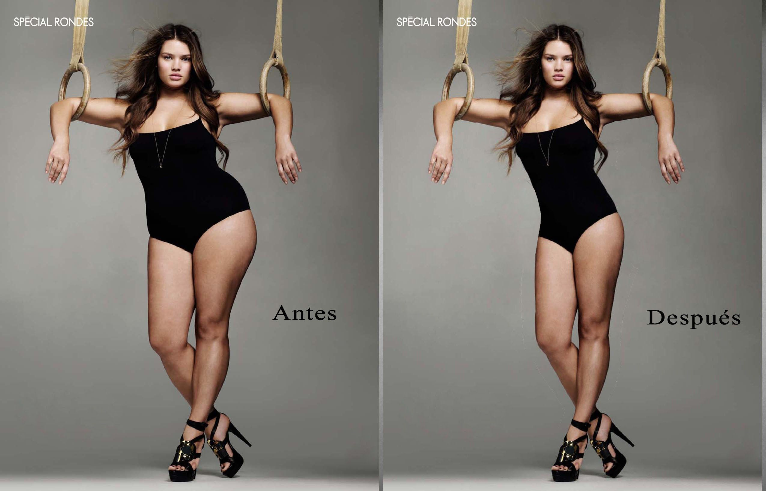 Как фотошопом сделать из худого толстого