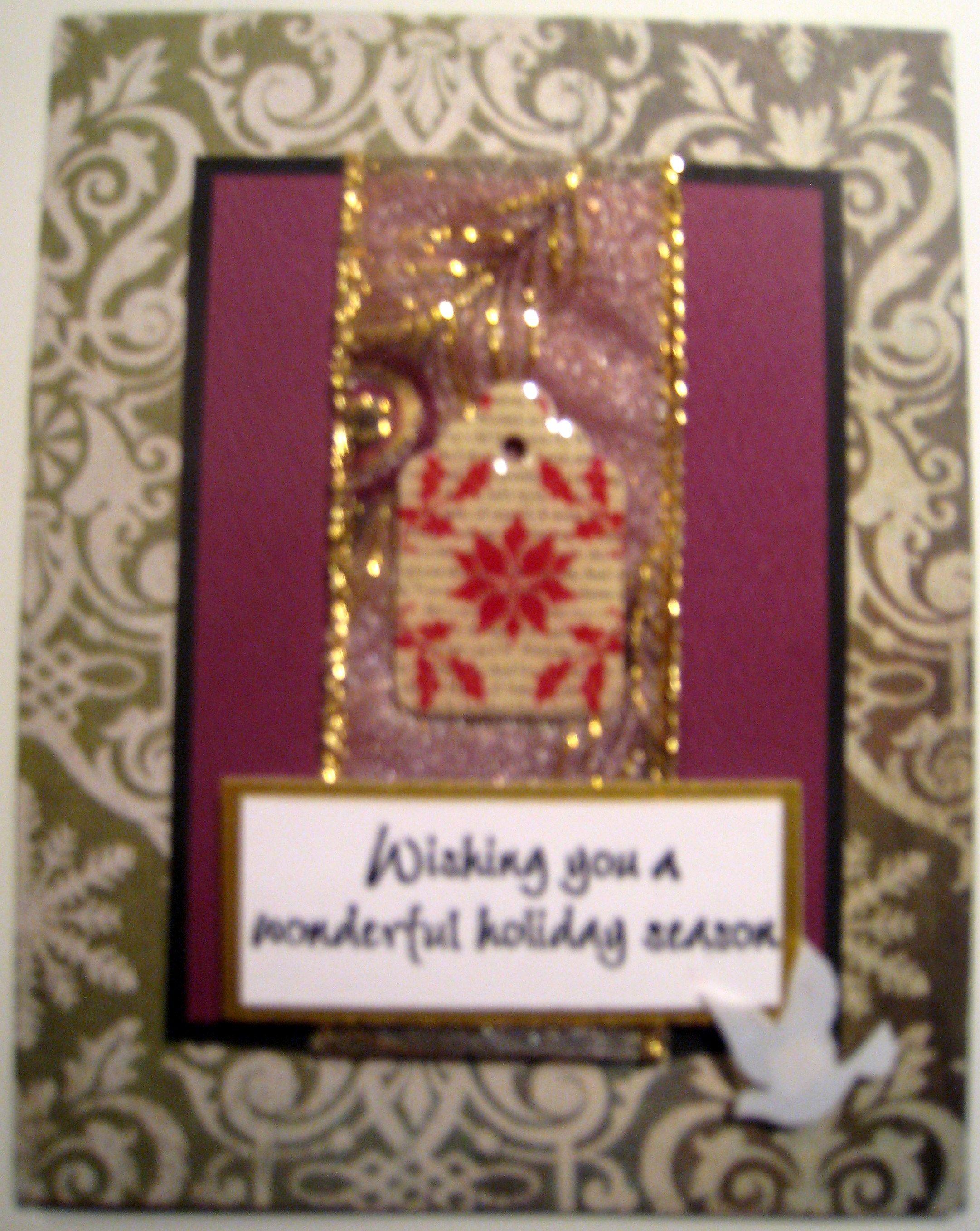 Handmade Christmas card. | Cards by Nicky Gleason | Pinterest