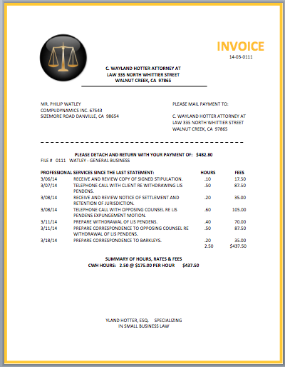 attorney invoice template  Legal Attorney Invoice Template | invoice | Pinterest | Invoice ...