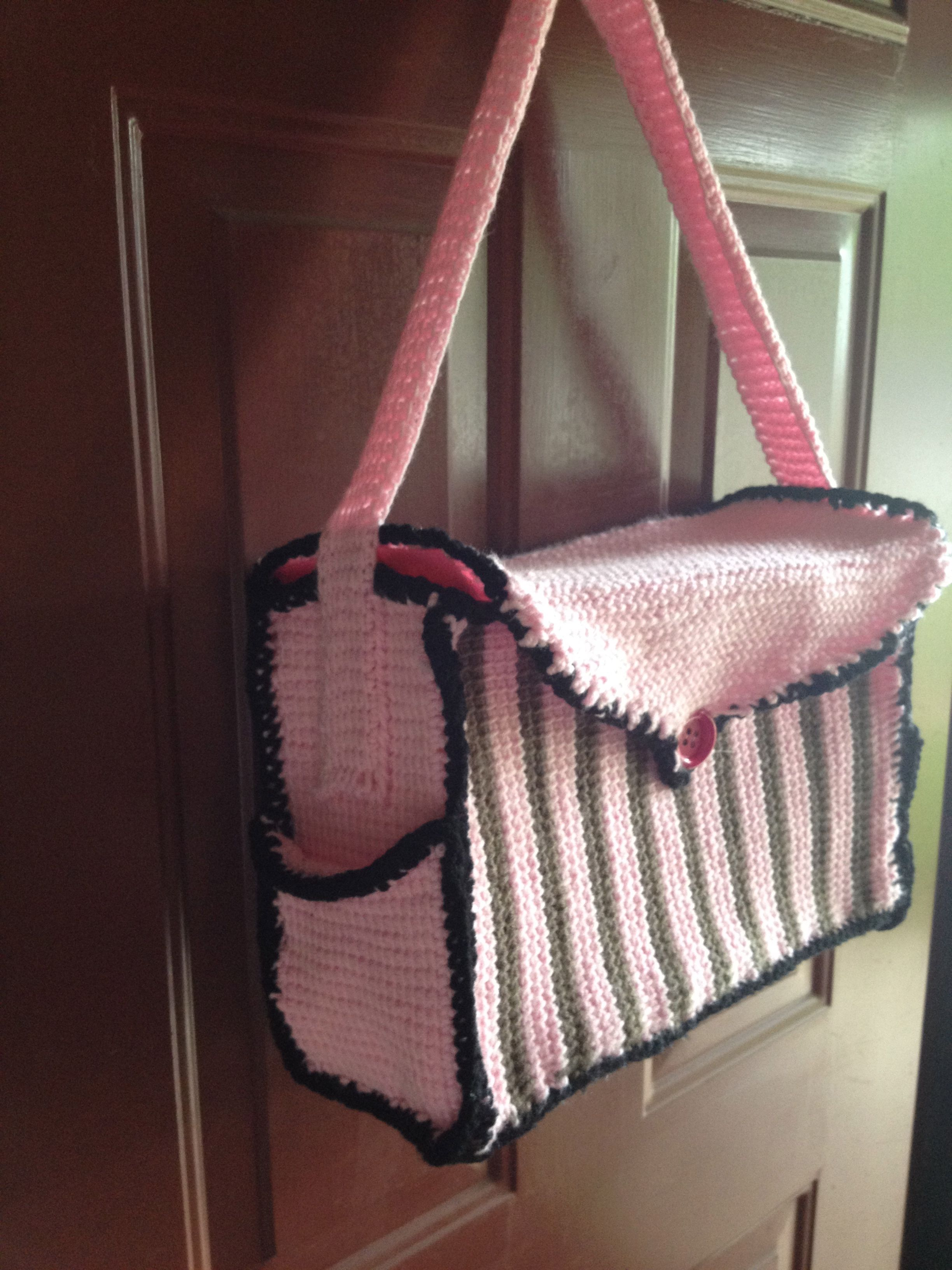 Crochet Dice Bag Pattern : Tunisian Crochet Diaper Bag Children,baby crochet and ...