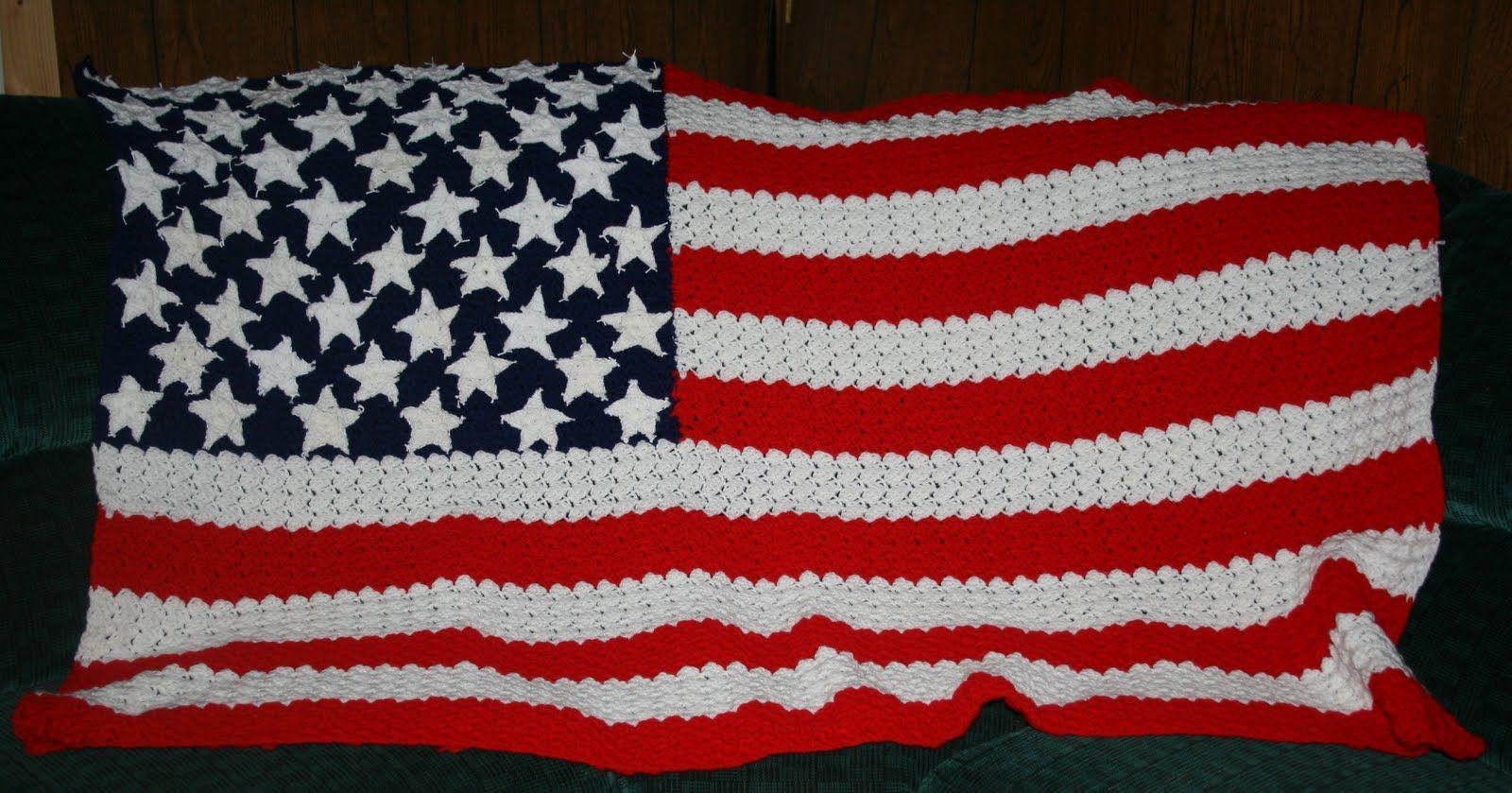 Knitting Pattern Us Flag : American Flag! Knit & Crochet Pinterest