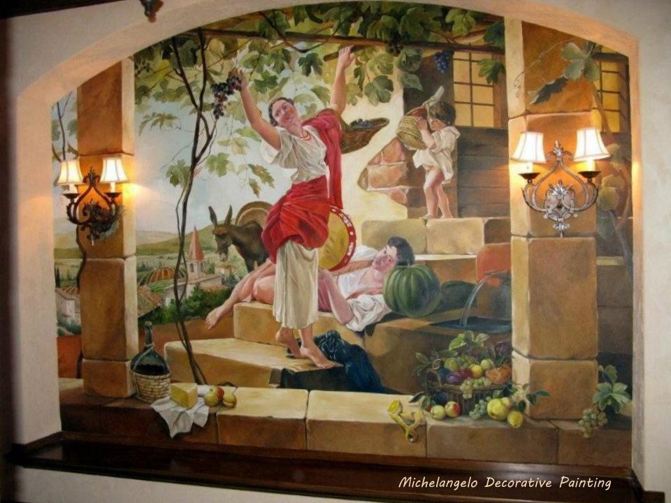Wine Cellar Mural Wall Treatment Murals Frescoes Pinterest