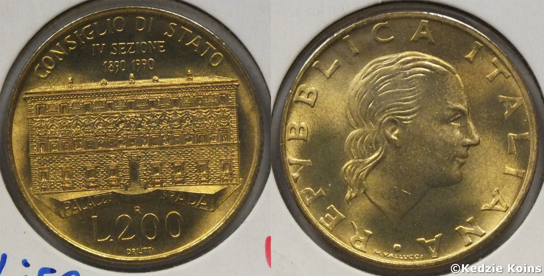 1990 Italy 200 Lire coin  Foreign Coins  Pinterest