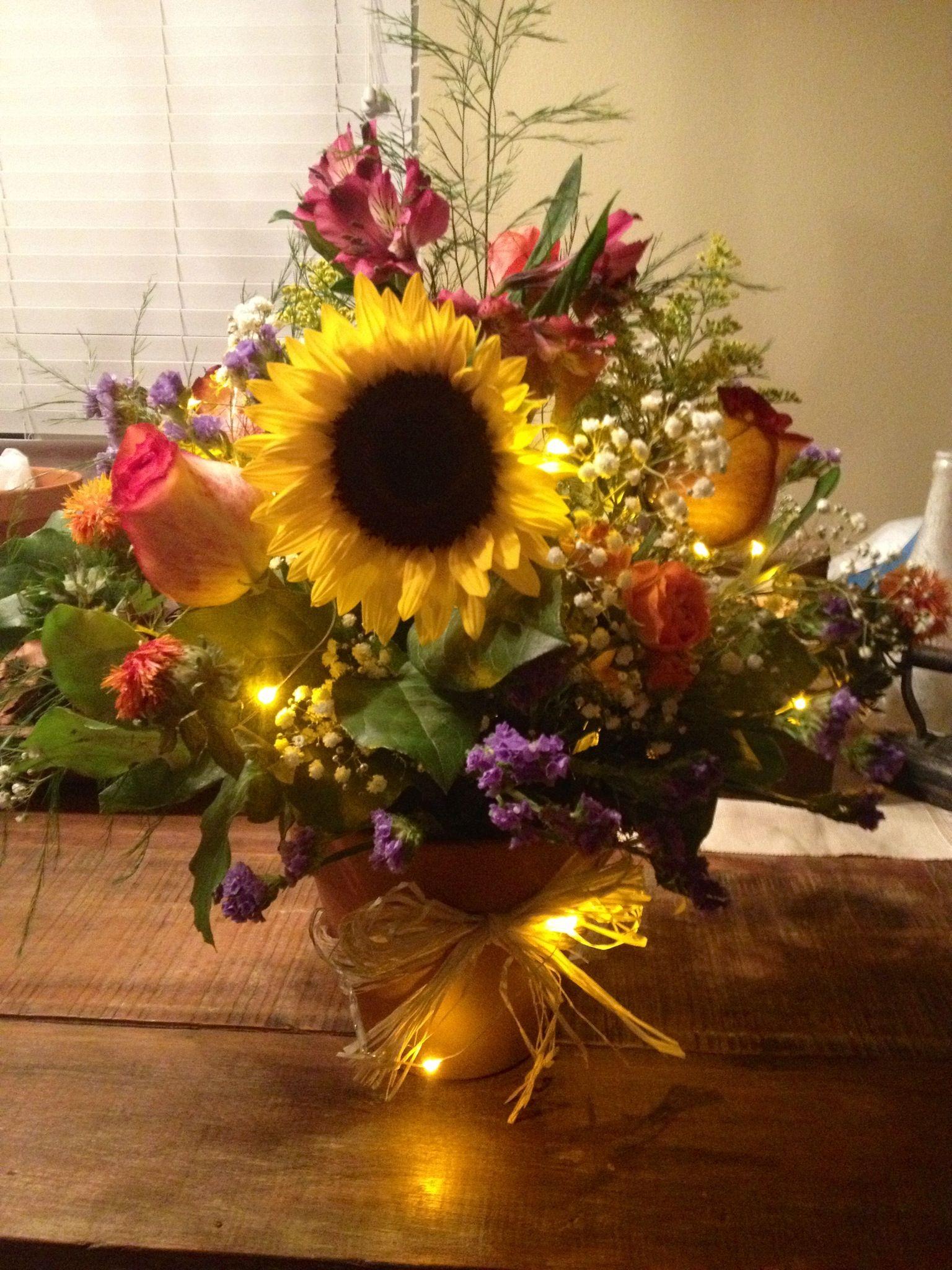 Sunflower centerpiece october th pinterest