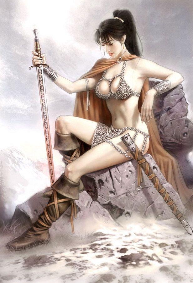 Рисованные девушки воительницы голые69