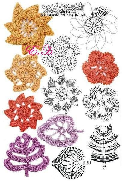 Crochet Stitches Examples : crochet flower examples Crochet Stitches & Patterns Pinterest