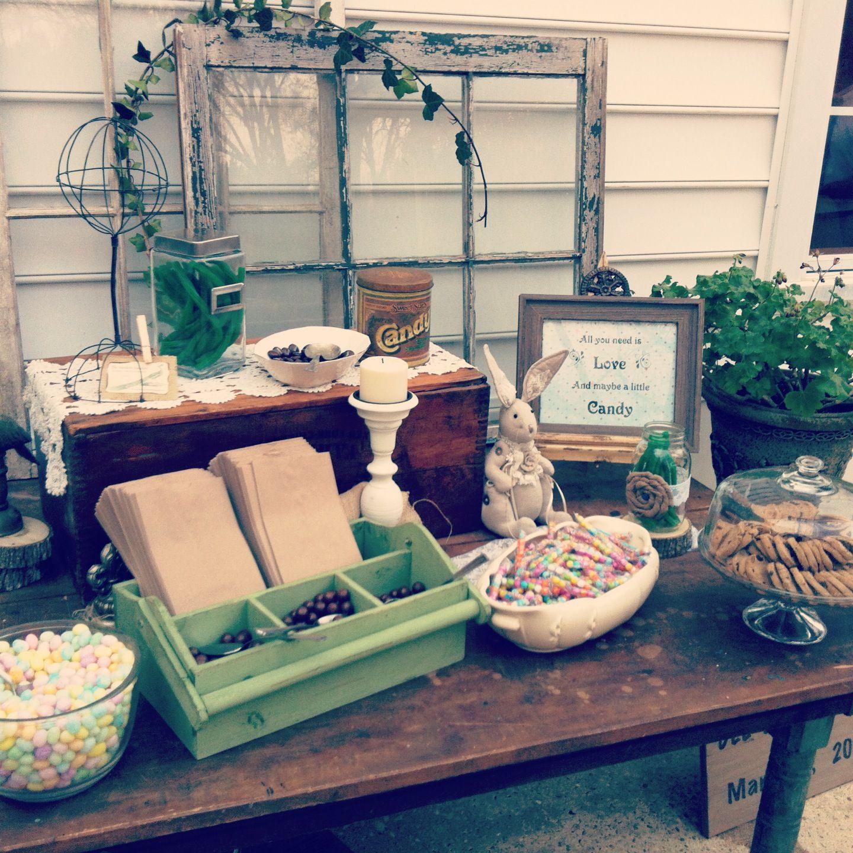 Rustic Wedding Candy Table Ideas: Barn Wedding Ideas