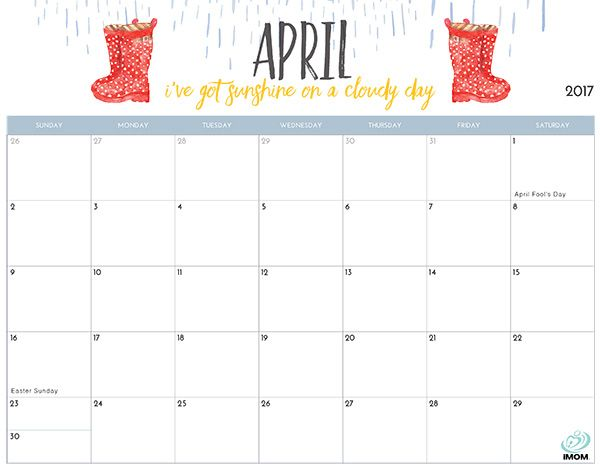 2017 Printable Calendar for Moms | Printable calendars and Planners