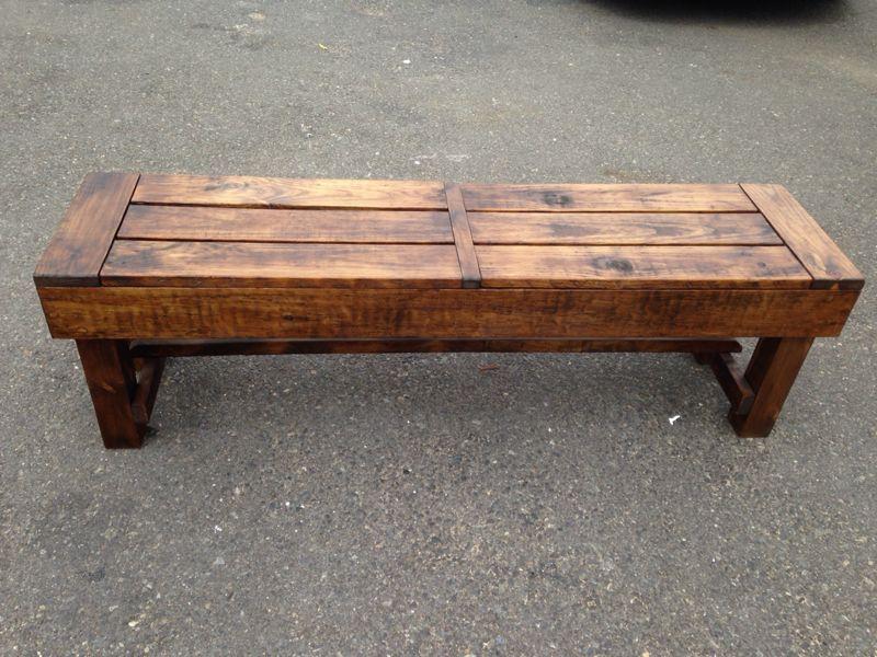 indoor\/outdoor wooden bench  DIY aka Clint\u002639;s list  Pinterest