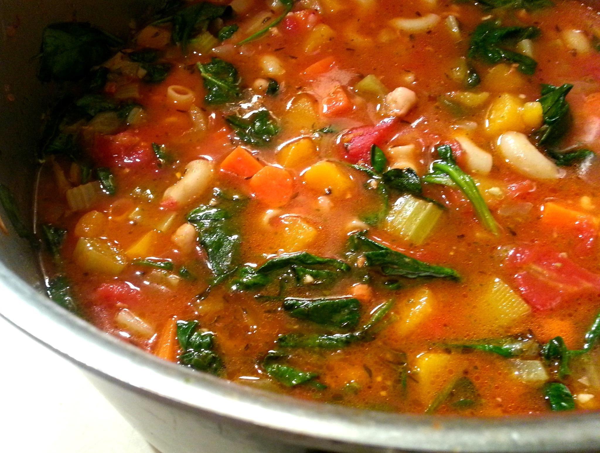 Winter Minestrone And Garlic Bruschetta Recipe — Dishmaps