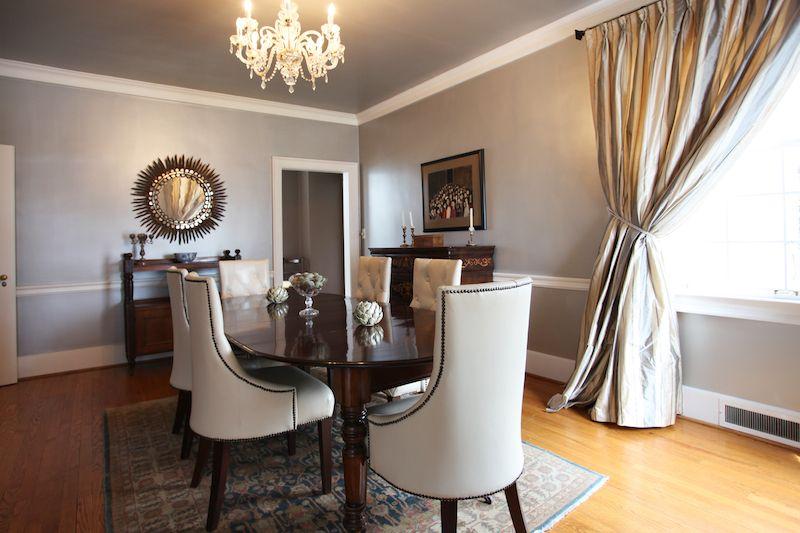 silver leaf ceiling | Denslowe Dining Room | Pinterest