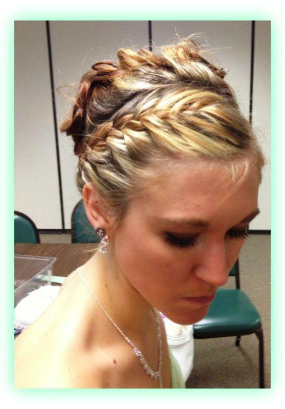 wedding hair wrap around braid & up-do ! | Wedding | Pinterest
