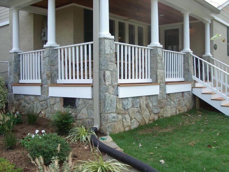 Front porch idea doors windows porches gardens for Wrap around porch columns