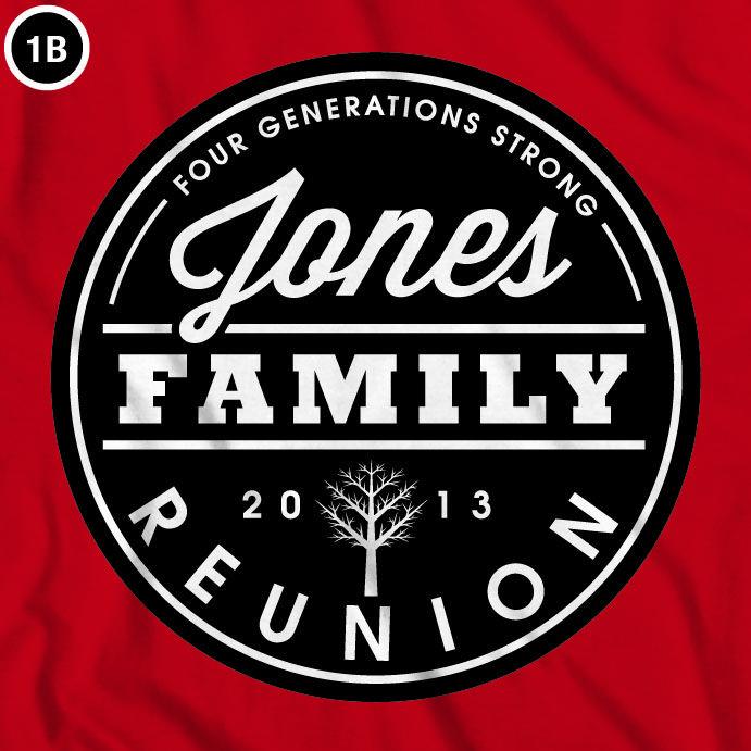 Custom family reunion logo design