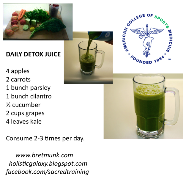 Daily Detox Juice ~ The Sacred Trainer | Recipes | Pinterest