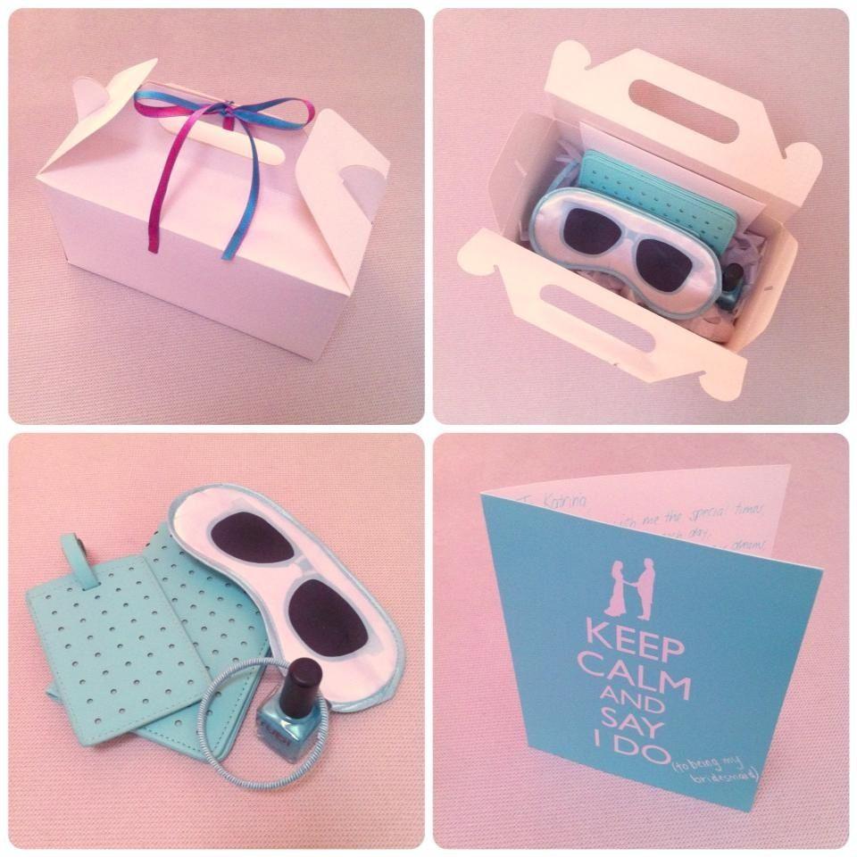 Destination wedding bridesmaid gift box Wedding Ideas Pinterest