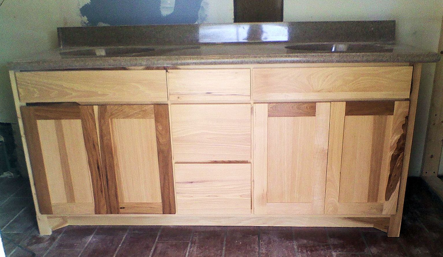 Natural hickory master bath vanity down home decorating pinterest