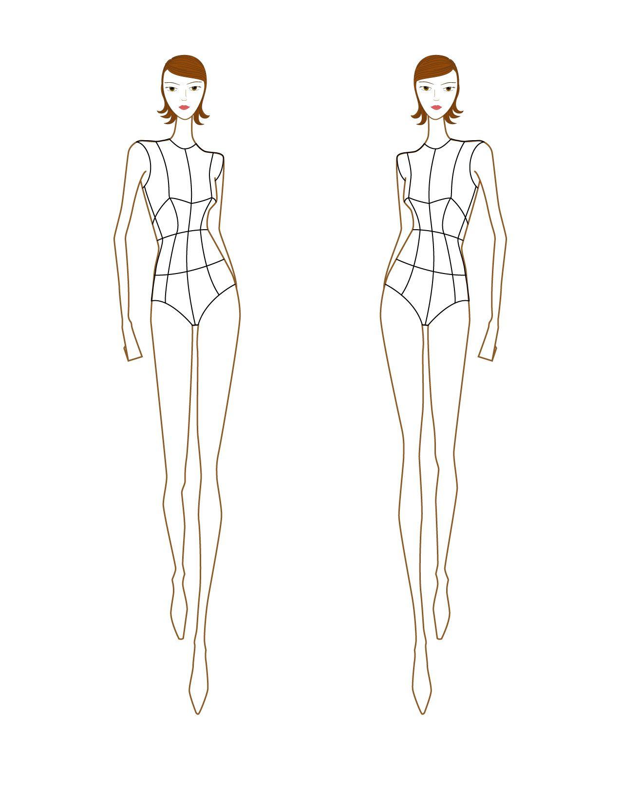 Free Printable fashion design croquis