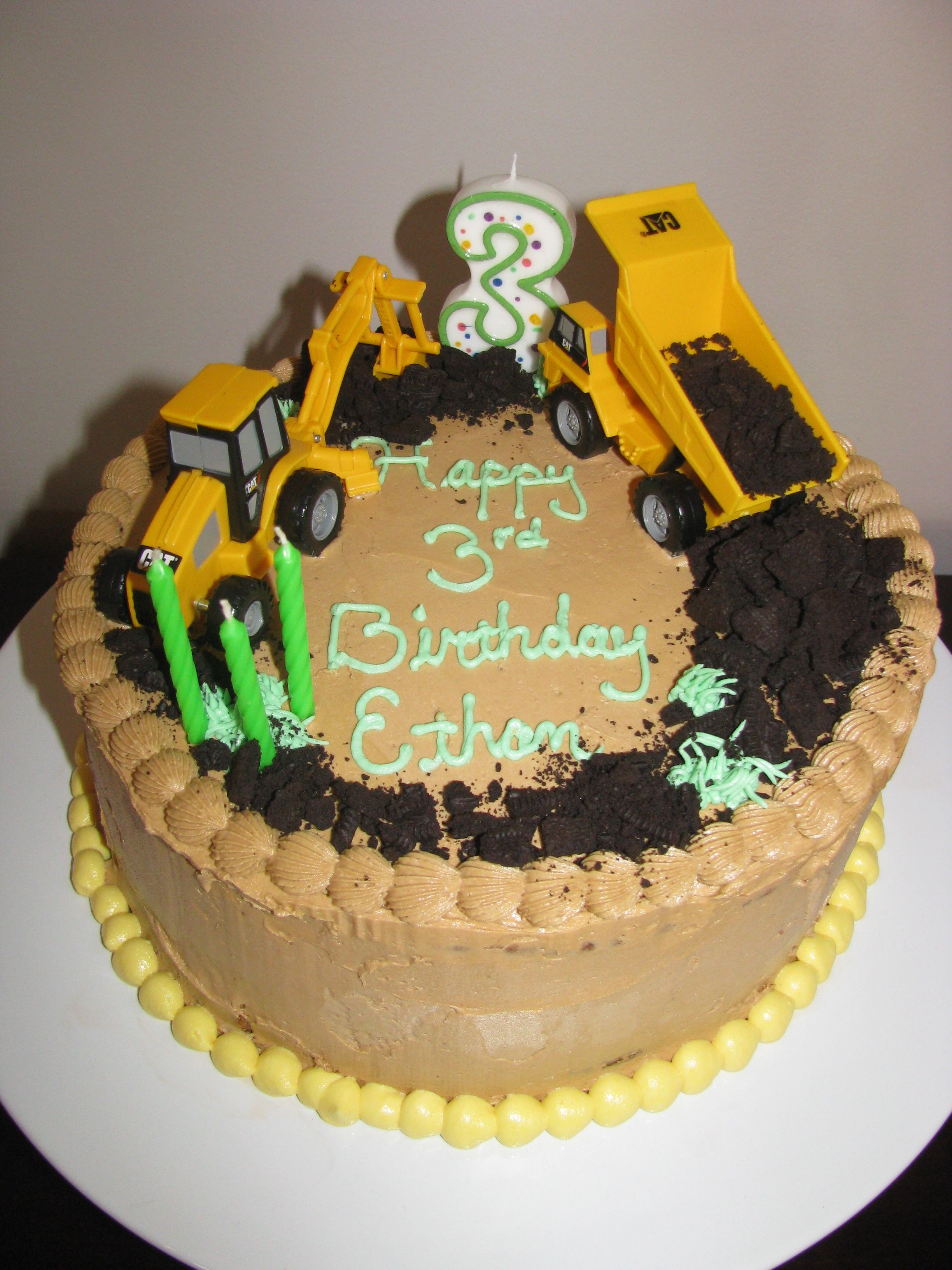Construction Themed Birthday Cake  Construction cake  Pinterest